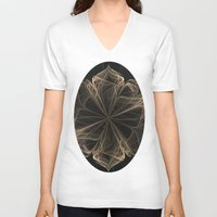 ornate V-neck T-shirts featuring Ornate Blossom by Charma Rose