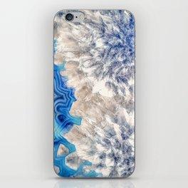 Blue sea ice agate 2990 iPhone Skin