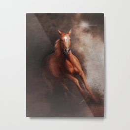 Quarter Horse (Digital Drawing) Metal Print