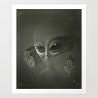 alien Art Prints featuring Alien by Dr. Lukas Brezak