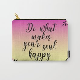 Floral Garden Do What Makes your soul happy Retro Carry-All Pouch