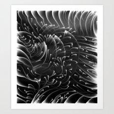 Sea Swirls, Black and White Art Print