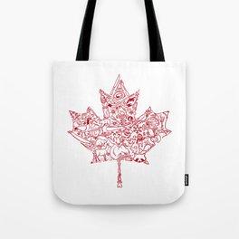 Maple Leaf - red Tote Bag