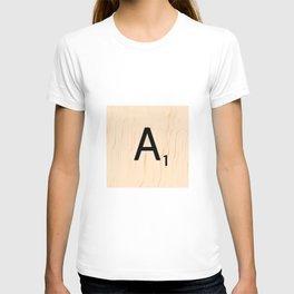 Letter A Scrabble Art T-shirt