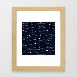 Sparkling stars Framed Art Print