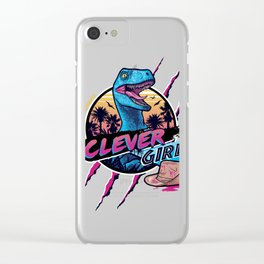 Clever Girl Clear iPhone Case