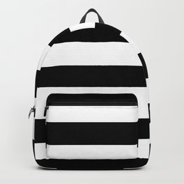 Abstract Black and White Stripe Lines 6 Backpack