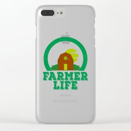 Farmer Life Earth Day 2019 Clear iPhone Case