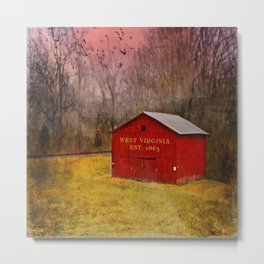 West Virginia Red Barn Metal Print