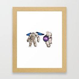 Galaxy baymax Framed Art Print