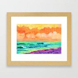 Simple Seascape IX Framed Art Print