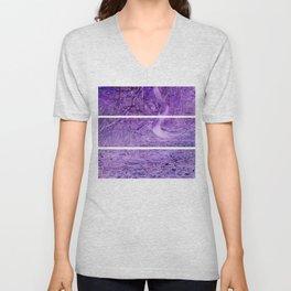 Season of the Land - Purple Storm Unisex V-Neck