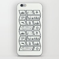 camping iPhone & iPod Skins featuring Camping by Corina Rivera Designs
