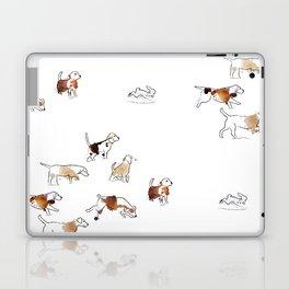 Beagles hunting Laptop & iPad Skin