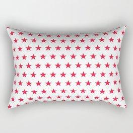 Red stars on white pattern Rectangular Pillow