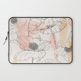 Watercolor Poppies Seamless Print Laptop Sleeve