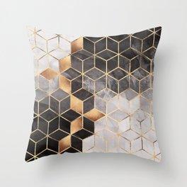 Smoky Cubes Throw Pillow