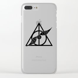 I Open At The Close Deathly Hallows Snitch Clear iPhone Case