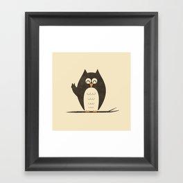 Peace Owlt Framed Art Print