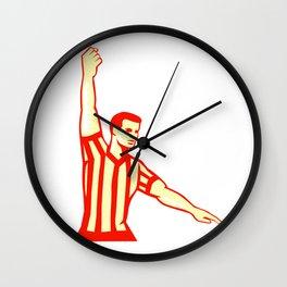 Basketball Referee Stop Clock Foul Retro Wall Clock