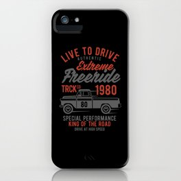 live to drive extreme freeride iPhone Case