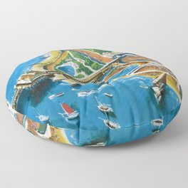 Southend-on-Sea Vintage Travel Poster Floor Pillow