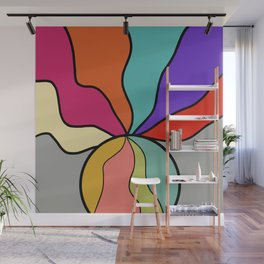 Abstract Ball With Waves Inside and Out Wall Mural