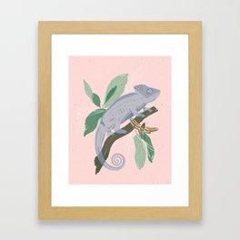Blue Chameleon Framed Art Print
