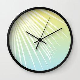 Pastel Palm 03 Wall Clock