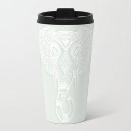 Sea Foam Gainsboro Bohemian Elephant Boho Decor Travel Mug