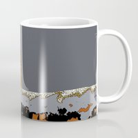 scotland Mugs featuring Scotland Winter by dacarrie