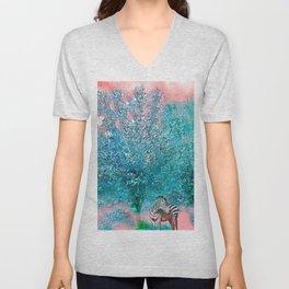 TREES AND ZEBRAS Unisex V-Neck