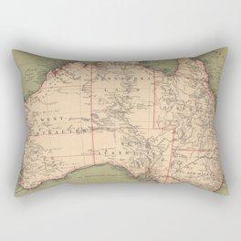 Vintage Australian Topography Map (1888) Rectangular Pillow