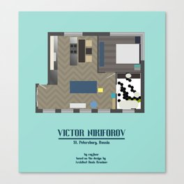 Floor Plan: Viktor Nikiforov's Apartment Canvas Print