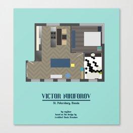 Floor Plan: Viktor Nikiforov's Apartment Canvas Print