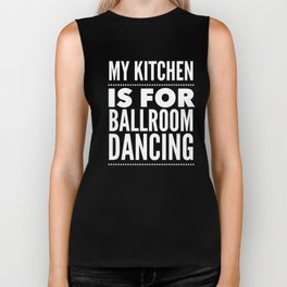 Ballroom Dancing Gift for Ball Room Dance Teacher or Instructor who Likes to Foxtrot, Tango or Waltz Biker Tank