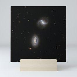 Hubble Space Telescope - Inseparable galactic twins Mini Art Print