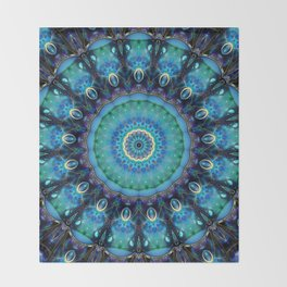 Jewel Of The Ocean Mandala Throw Blanket