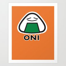 Oni the Onigiri, Kawaii Art Print