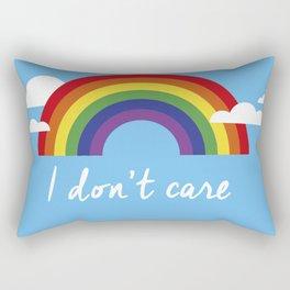 I dont care Rectangular Pillow