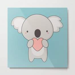 Kawaii Cute Koala Bear Metal Print