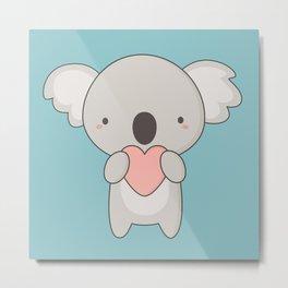 Kawaii Cute Koala Bear Metal Print