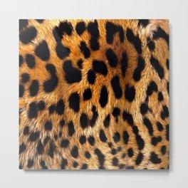Vegan Leopard Skin Animal Fur Design Metal Print
