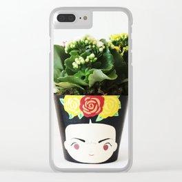FRIDA KHALO FLOWER POT Clear iPhone Case