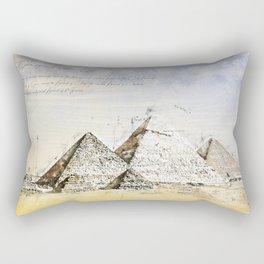 Pyramides of Giza, Cairo Egypt Rectangular Pillow
