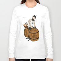 moby Long Sleeve T-shirts featuring Captain Moby by Napa