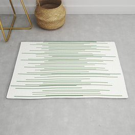 Thin Green Lines Swaying Rug