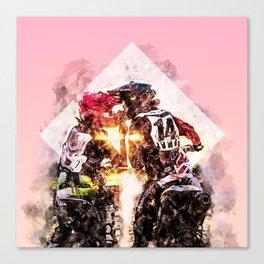 Bikers in love Canvas Print