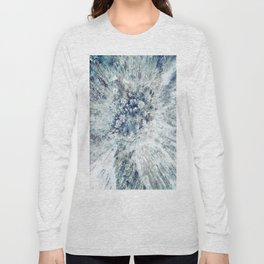 AERIAL. Frozen forest in winter Long Sleeve T-shirt