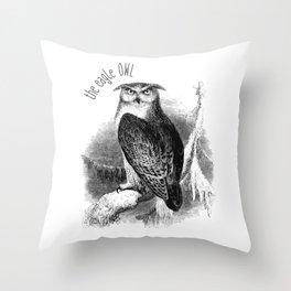 The Eagle Owl Throw Pillow